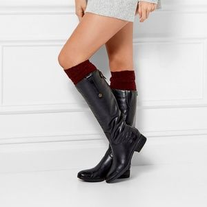 Sam Edelman black Penny knee high leather boots